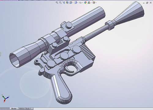 DL-44 SolidWorks and Pepakura models | Boba Fett Costume and Prop