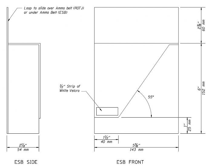 side cloth pouches template boba fett costume and prop maker
