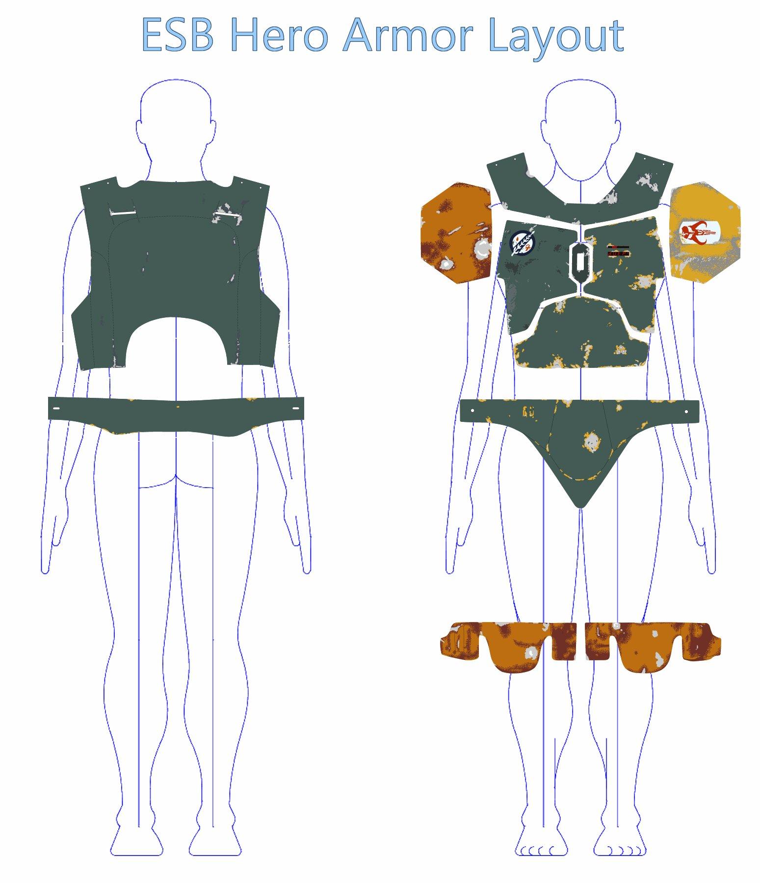 Boba Fett ESB Armor Stencils | Boba Fett Costume and Prop Maker ...