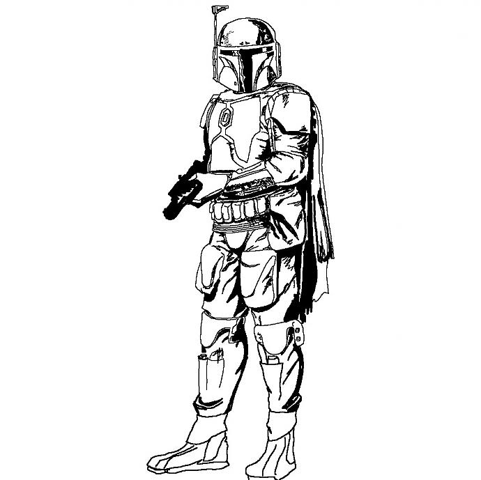 Plain boba fett picture boba fett costume and prop for Lego jango fett coloring pages