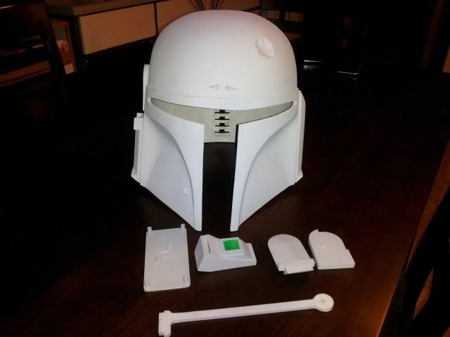 helmet upgrade workshop esb paintjob in progress boba fett