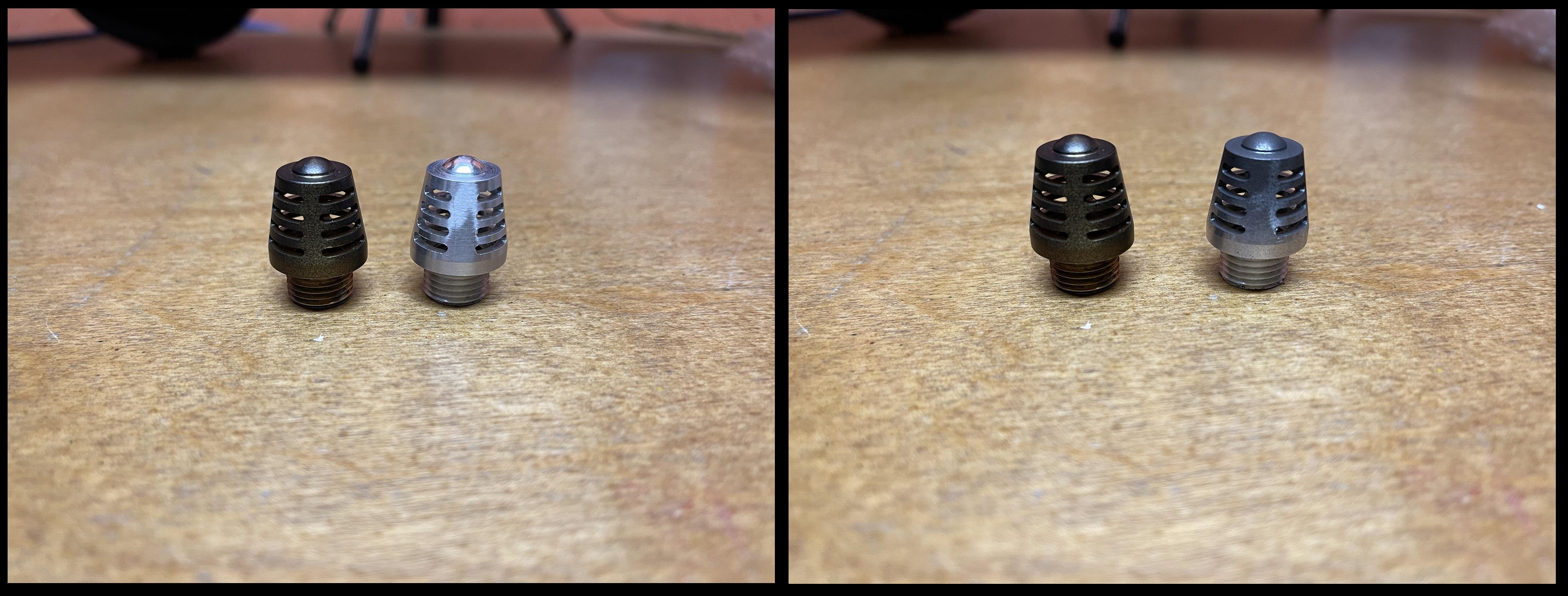 QDC Brass vs Aluminum Beacon Topper.jpg