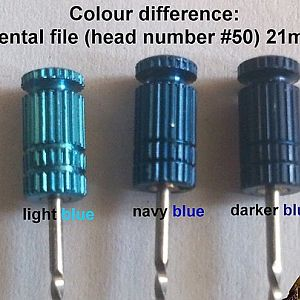 Colour Difference: dental file Head Number #50 21mm