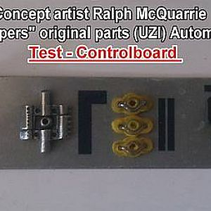 "Concept artist Ralph McQuarrie ""Super Troopers"" original parts (UZI) Automatic Blaster Test - Controlboard V2"