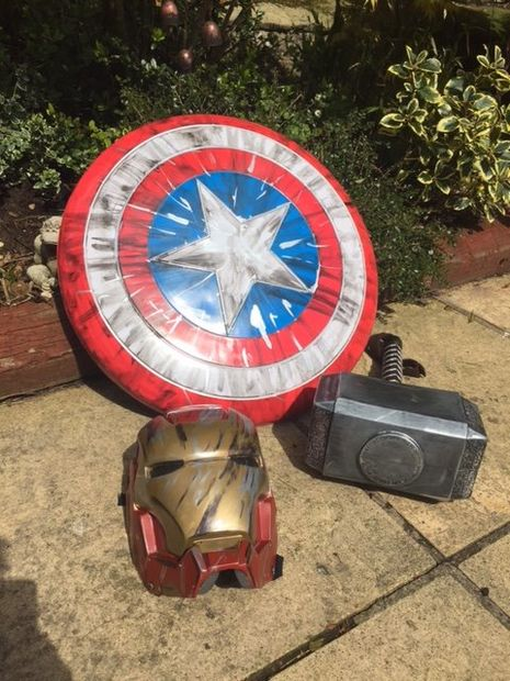 Collection of Marvel Props