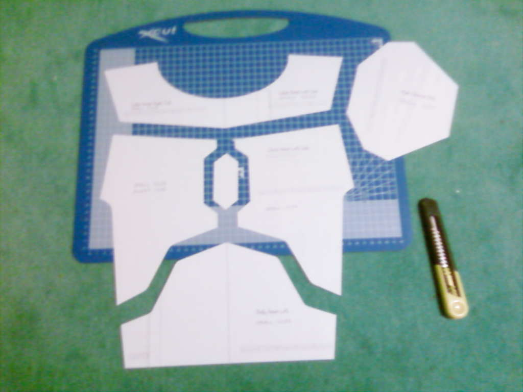 cutting out laminated templates boba fett costume and prop maker